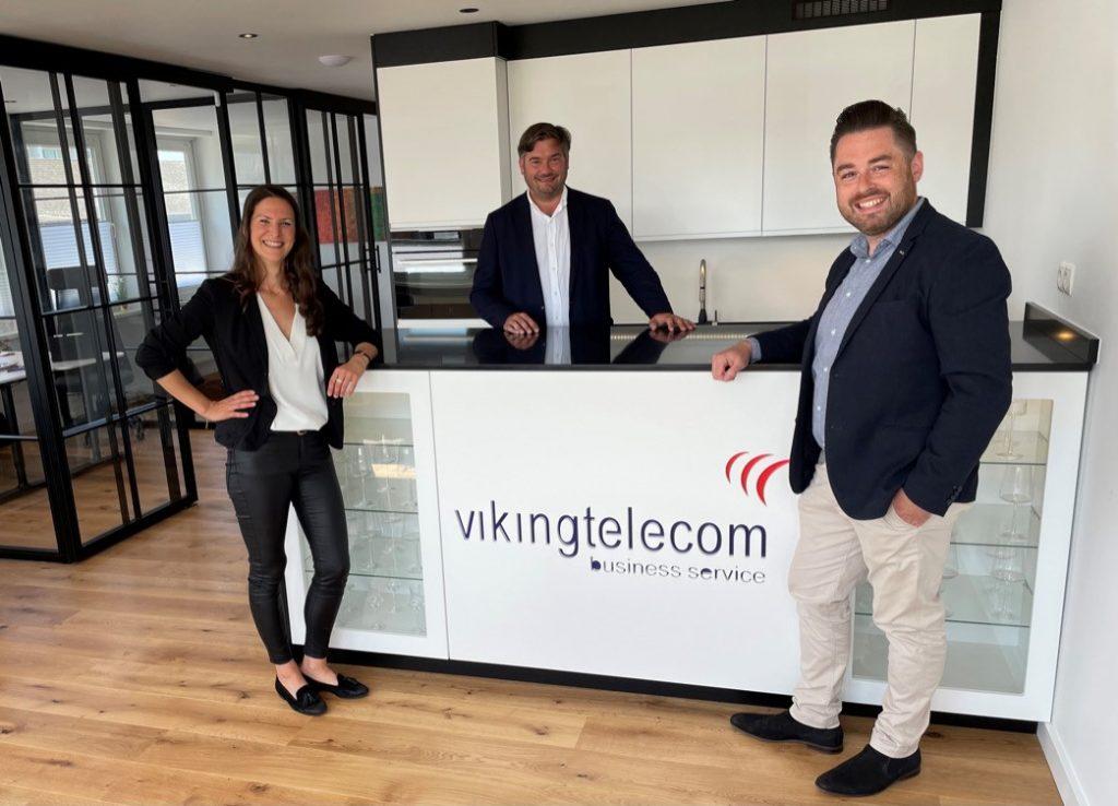 Viking Telecom auf Sylt (v.l.n.r.) Simone Pirwitz, Sebastian Meier und Felix Hahn.